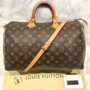 Authentic Louis Vuitton Speedy 35 Tote #8.4N
